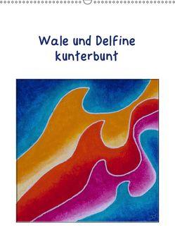 Wale und Delfine kunterbunt (Wandkalender 2019 DIN A2 hoch) von Thomas,  Doris