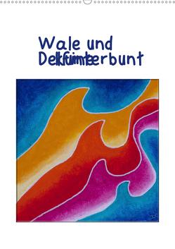 Wale und Delfine kunterbunt (Wandkalender 2021 DIN A2 hoch) von Thomas,  Doris
