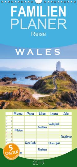 Wales – Familienplaner hoch (Wandkalender 2019 , 21 cm x 45 cm, hoch) von Kruse,  Joana