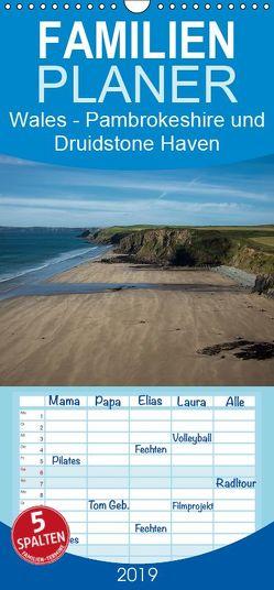 Wales- Pambrokeshire und Druidstone Haven – Familienplaner hoch (Wandkalender 2019 , 21 cm x 45 cm, hoch) von Petra Voß,  ppicture-