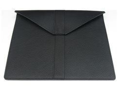 Wall Street | Echtledertasche für Tablets | Schwarz