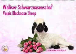 Walliser Schwarznasenschaf Valais Blacknose Sheep (Wandkalender 2020 DIN A2 quer) von Hutfluss,  Jeanette