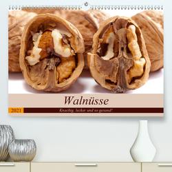 Walnüsse. Knackig, lecker und so gesund! (Premium, hochwertiger DIN A2 Wandkalender 2021, Kunstdruck in Hochglanz) von Hurley,  Rose