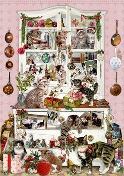 Wand-Adventskalender – Katzen im Advent von Behr,  Barbara