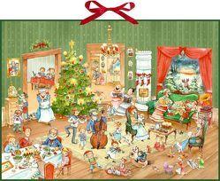Wand-Adventskalender – Wimmelige Weihnachtsfeier von Kohne,  Diana