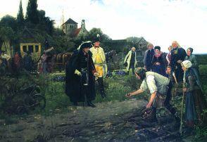 "Wandbild (1859–1893) ""Warthmüller, Der König ist überall"""