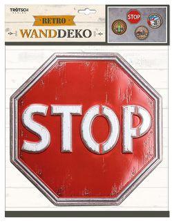 Wanddeko Retro STOP