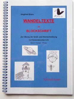 Wandeltexte in Blockschrift von Bliem,  Siegfried