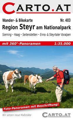 Wander- & Bikekarte 403 Region Steyr am Nationalpark