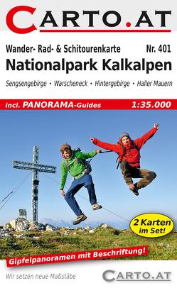 Wander- Rad- & Schitourenkarte 401 Nationalpark Kalkalpen