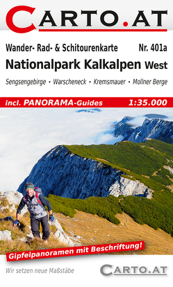 Wander- Rad- & Schitourenkarte 401a Nationalpark Kalkalpen West