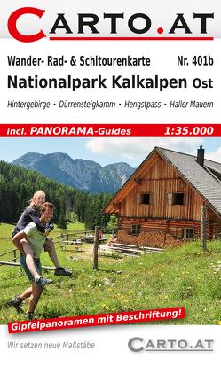 Wander- Rad- & Schitourenkarte 401b Nationalpark Kalkalpen Ost