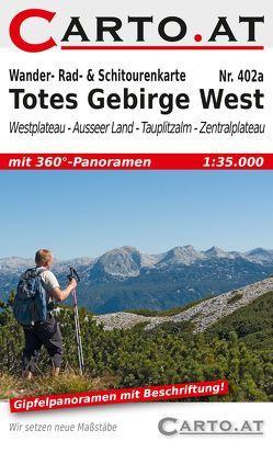 Wander- Rad- & Schitourenkarte 402a Totes Gebirge West