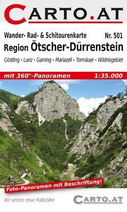 Wander- Rad- & Schitourenkarte 501 Region Ötscher-Dürrenstein