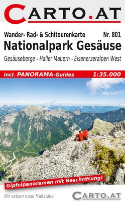 Wander- Rad- & Schitourenkarte 801 Nationalpark Gesäuse