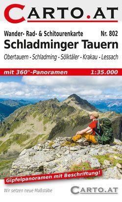 Wander- Rad- & Schitourenkarte 802 Schladminger Tauern