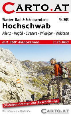 Wander- Rad- & Schitourenkarte 803 Hochschwab