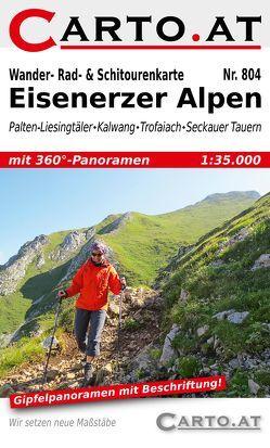 Wander- Rad- & Schitourenkarte 804 Eisenerzer Alpen