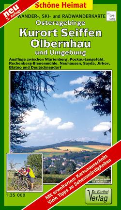 Wander- Ski- und Radwanderkarte Osterzgebirge, Kurort Seiffen und Umgebung
