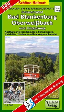 Wander-, Ski- und Radwanderkarte Schwarzatal, Bad Blankenburg, Oberweißbach und Umgebung