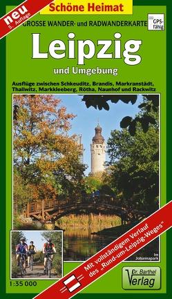 Wander- und Radwanderkarte Leipzig und Umgebung