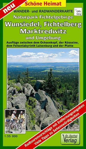 Wander- und Radwanderkarte Naturpark Fichtelgebirge, Wunsiedel, Fichtelberg, Marktredwitz und Umgebung