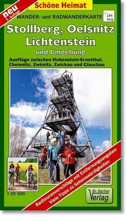 Wander- und Radwanderkarte Stollberg, Oelsnitz, Lichtenstein und Umgebung