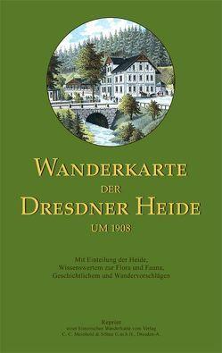 Wanderkarte der Dresdner Heide um 1908 von Schmidt,  Michael