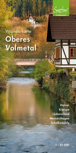 Wanderkarte Oberes Volmetal von Gemeinde Schalksmühle, Stadt Halver, Stadt Kierspe, Stadt Lüdenscheid, Stadt Meinerzhagen