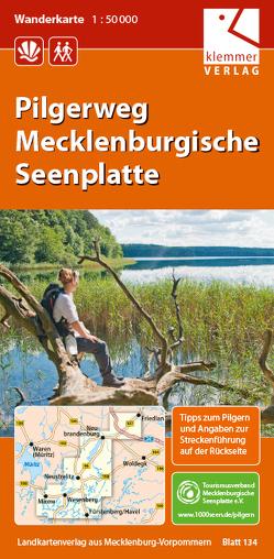 Wanderkarte Pilgerweg Mecklenburgische Seenplatte von Goerlt,  Heidi, Klemmer,  Klaus, Kuhlmann,  Christian, Wachter,  Thomas