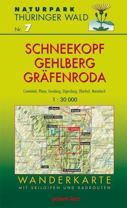 Wanderkarte Schneekopf/Gehlberg und Gräfenroda