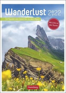 Wanderlust Kalender 2022 von Harenberg, Pollmann,  Bernhard
