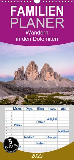 Wandern in den Dolomiten – Familienplaner hoch (Wandkalender 2020 , 21 cm x 45 cm, hoch) von Prediger,  Klaus, Prediger,  Rosemarie