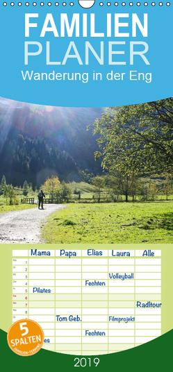 Wanderung in der Eng – Familienplaner hoch (Wandkalender 2019 , 21 cm x 45 cm, hoch) von Lindhuber,  Josef
