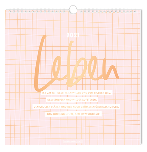 """Wandkalender 2021 """"Leben"""""""