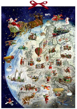 Wandkalender – Der Dienstplan des Weihnachtsmanns von Behr,  Barbara