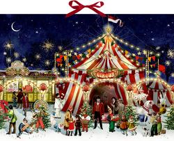 Wandkalender – Ein Besuch im Weihnachtszirkus von Behr,  Barbara