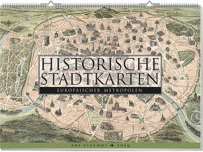 Wandkalender: Historische Stadtkarten europäischer Metropolen 2019