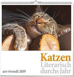 Wandkalender: Katzen – Literarisch durchs Jahr 2019