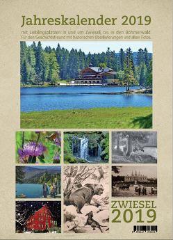 Wandkalender mit Spirale 2019 Zwiesel und Bayerischer Wald / Böhmen in Bayern A4 mit Kalendarium von Haller,  Marita