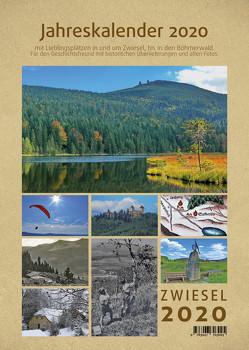 Wandkalender mit Spirale 2020 Zwiesel und Bayerischer Wald / Böhmen in Bayern A4 mit Kalendarium: Unsere schönen Bilder und Geschichten aus dem Natur- und Nationalpark Bayerischer Wald