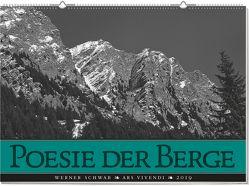 Wandkalender: Poesie der Berge 2019 von Schwab,  Werner