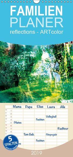 wandkalender reflections number two – Familienplaner hoch (Wandkalender 2019 , 21 cm x 45 cm, hoch) von j.benesch