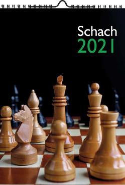 Wandkalender SCHACH 2021 A4 von Ullrich,  Robert