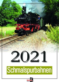 Wandkalender Schmalspurbahn 2021 von Dotzauer,  Manuel