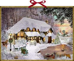 Wandkalender – Winterliches Cottage von Behr,  Barbara