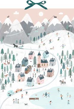 Wandkalender – Winterpanorama von Schulte,  Tina
