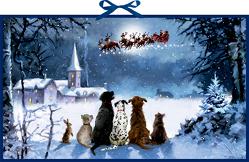 Wandkalender – Wunderbare Hunde-Weihnacht