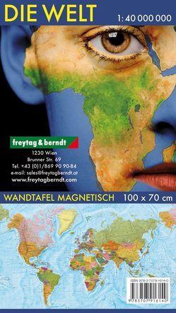 Wandkarte: Die Welt, deutsch, Magnetmarkiertafel 1:40.000.000 von Freytag-Berndt und Artaria KG