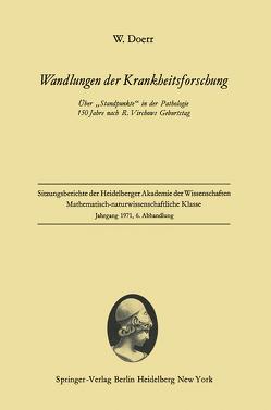Wandlungen der Krankheitsforschung von Doerr,  Wilhelm